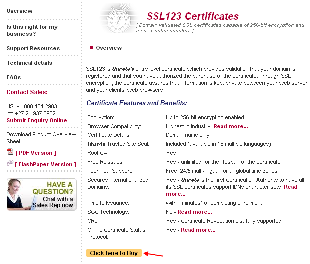 SSL123 Certificates Overview