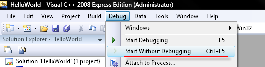 Launching the server through Visual Studio