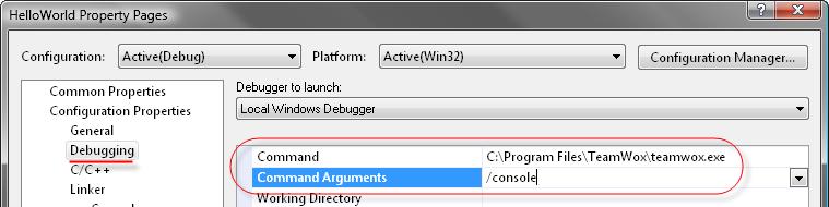 Command line parameters