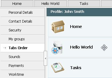 Module Logo in User Profile