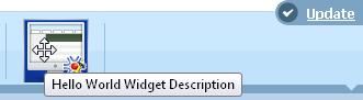 New Widget for the Hello World Module