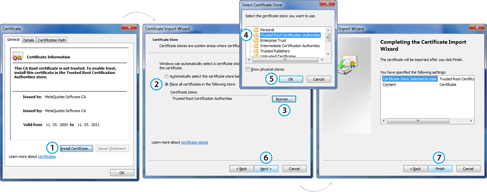TeamWox Groupware: placing the certificate to the Windows OS store