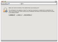 Apple Safari warning about the untrusted SSL certificate
