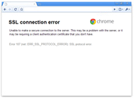 Google Chrome message concerning the blocked server ports issue