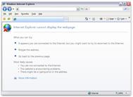 Microsoft Internet Explorer message concerning the blocked server ports issue