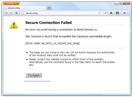 Mozilla Firefox message concerning the blocked server ports issue