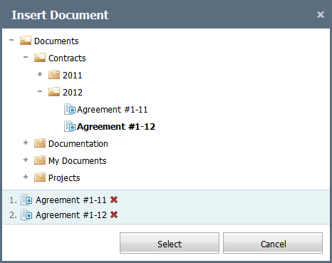 Inserting document